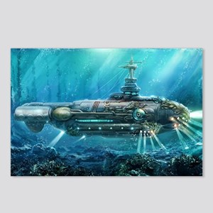 Steampunk Submarine Postcards (Package of 8)