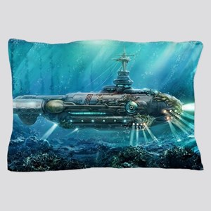 Steampunk Submarine Pillow Case
