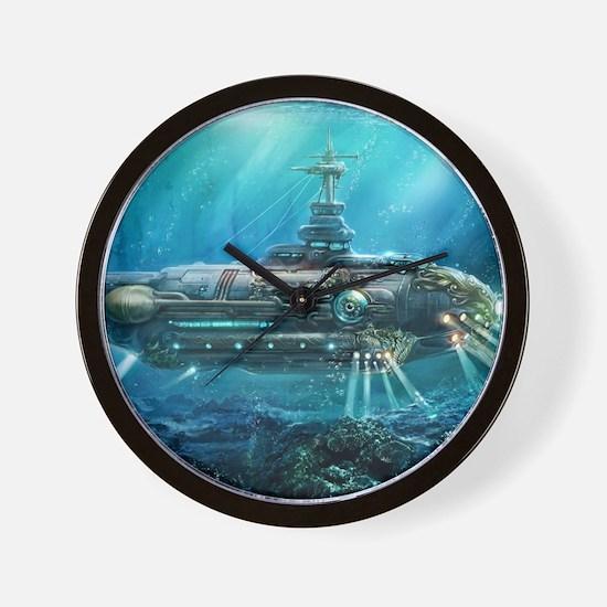 Steampunk Submarine Wall Clock