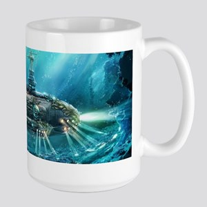 Steampunk Submarine Large Mug