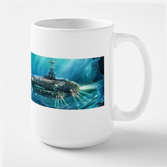 Steampunk Submarine Large Mug
