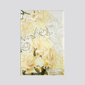 Artistic Yellow Roses Rectangle Magnet