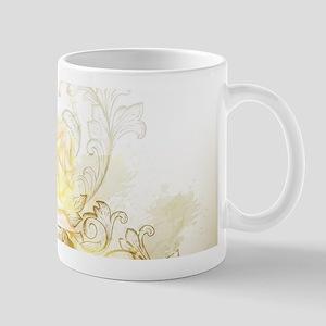 Artistic Yellow Roses Mug