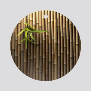 Bamboo Wall Round Ornament