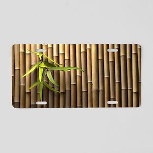 Bamboo Wall Aluminum License Plate