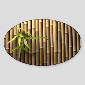 Bamboo Wall Sticker (Oval)