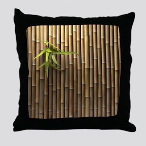 Bamboo Wall Throw Pillow