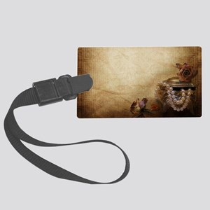 Antique Pearls Large Luggage Tag