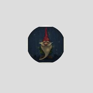 Old Christmas Gnome Mini Button