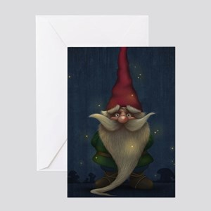 Old Christmas Gnome Greeting Cards