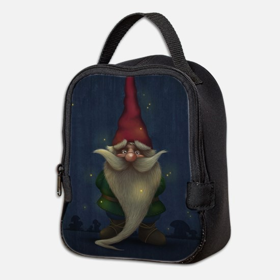 Old Christmas Gnome Neoprene Lunch Bag
