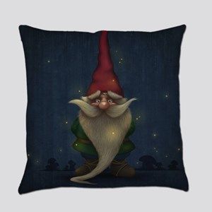 Old Christmas Gnome Everyday Pillow