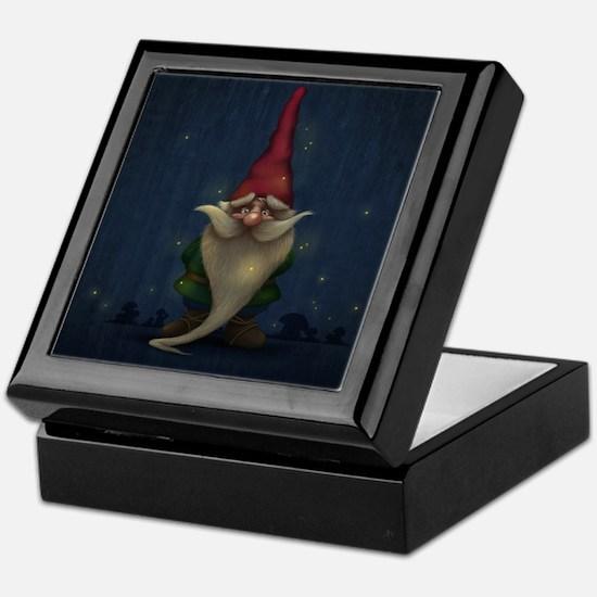 Old Christmas Gnome Keepsake Box
