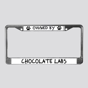 Owned by Chocolate Labs License Plate Frame