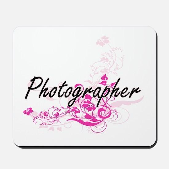 Photographer Artistic Job Design with Fl Mousepad