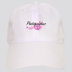 Photographer Artistic Job Design with Flowers Cap