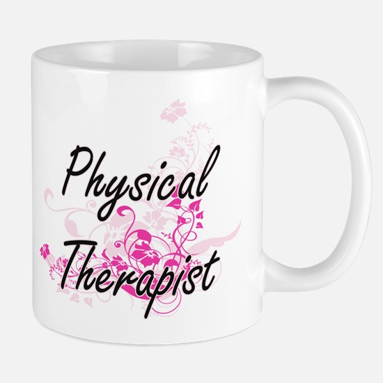 Physical Therapist Artistic Job Design with F Mugs