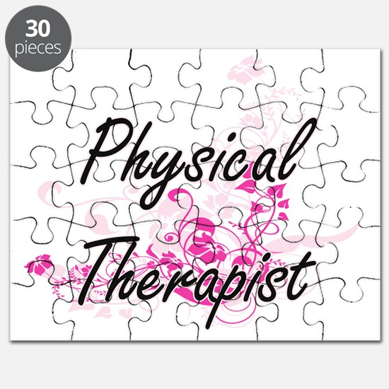 Physical Therapist Artistic Job Design with Puzzle