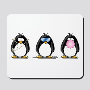 Hear, See, Speak No Evil Peng Mousepad