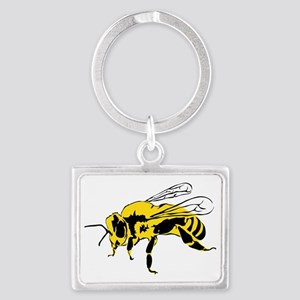 Yellow bee Landscape Keychain