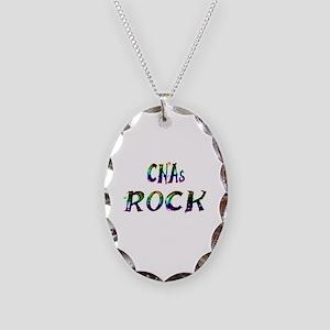 CNAs ROCK Necklace Oval Charm