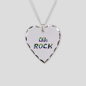 CNAs ROCK Necklace Heart Charm