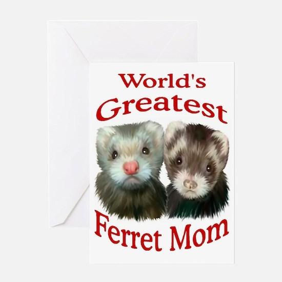 Cute World greatest mom Greeting Card