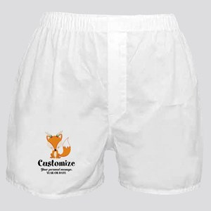 Custom Christmas Fox Boxer Shorts