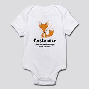 Custom Christmas Fox Baby Light Bodysuit