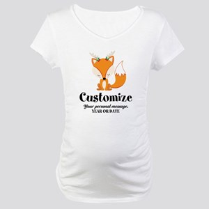 Custom Christmas Fox Maternity T-Shirt