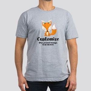 Custom Christmas Fox Men's Fitted T-Shirt (dark)