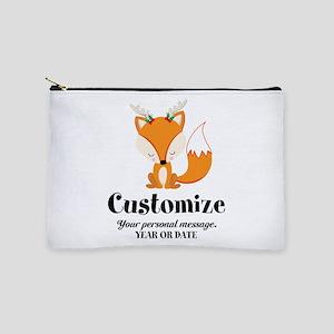 Custom Christmas Fox Makeup Bag