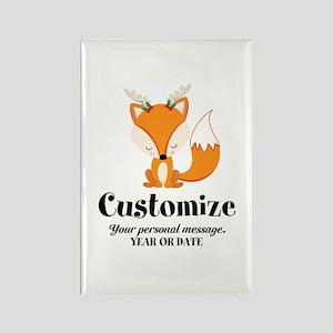Custom Christmas Fox Rectangle Magnet