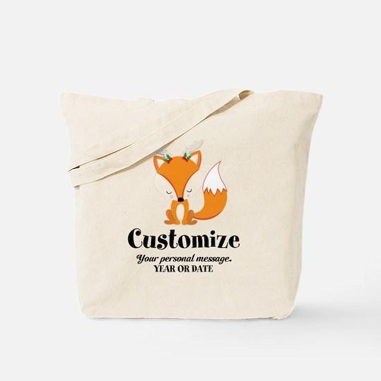 Custom Christmas Fox Tote Bag