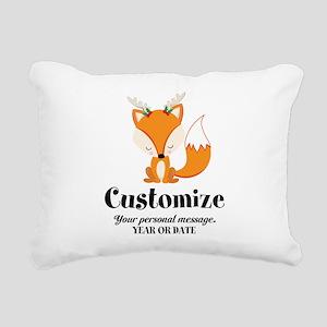 Custom Christmas Fox Rectangular Canvas Pillow