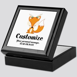 Custom Christmas Fox Keepsake Box