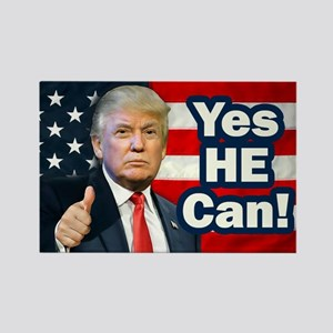 Yes HE Can! Rectangle Magnet