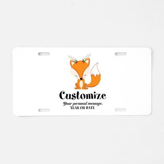 Custom Christmas Fox Aluminum License Plate