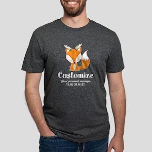 Custom Christmas Fox Mens Tri-blend T-Shirt