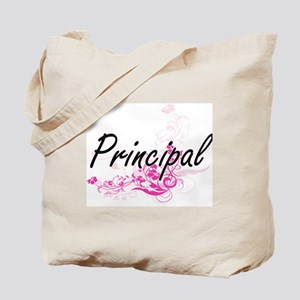 Principal Artistic Job Design with Flower Tote Bag