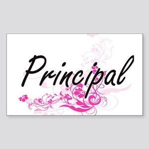 Principal Artistic Job Design with Flowers Sticker