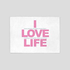 I Love Life 5'x7'Area Rug