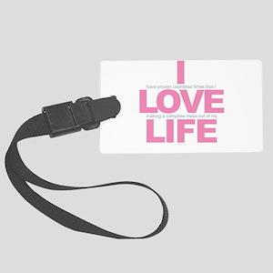 I Love Life Large Luggage Tag