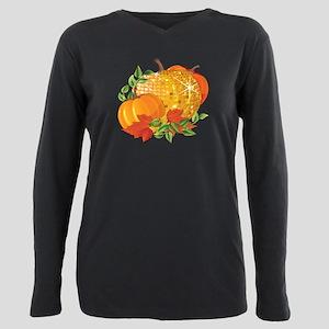 Fall Pumpkins Plus Size Long Sleeve Tee