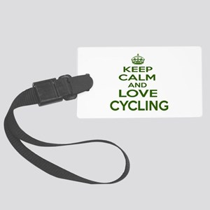Keep calm and love Cycling Large Luggage Tag