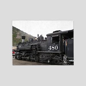 Steam train locomotive, Colorado 10 5'x7'Area Rug