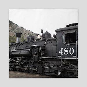 Steam train locomotive, Colorado 10 Queen Duvet