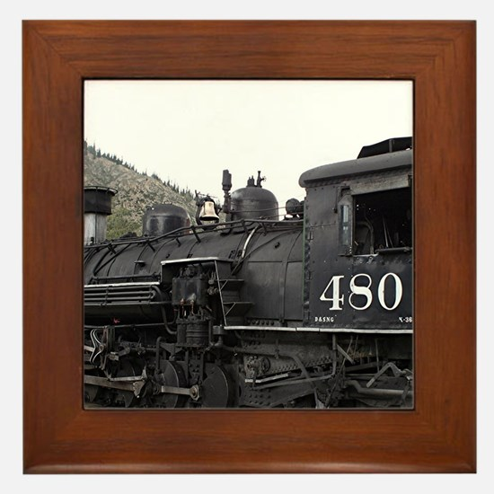 Steam train locomotive, Colorado 10 Framed Tile