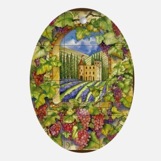 Best Seller Grape Oval Ornament