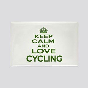 Keep calm and love Cycling Rectangle Magnet
